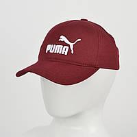 """Бейсболка """"Котон 5кл"""" Puma марсала+белый"""