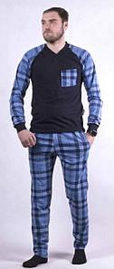 Летняя мужская пижама в клетку кофта и штаны 44-62 р