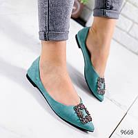 Туфли балетки женские Вивьен темная мята 9668, фото 1