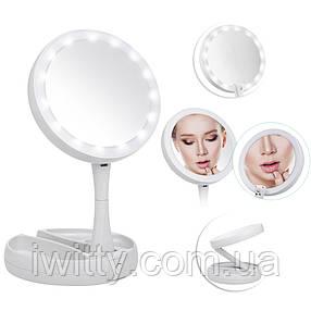 Зеркало с вентилятором для мейкапа COSMO MIRROR LED, фото 2