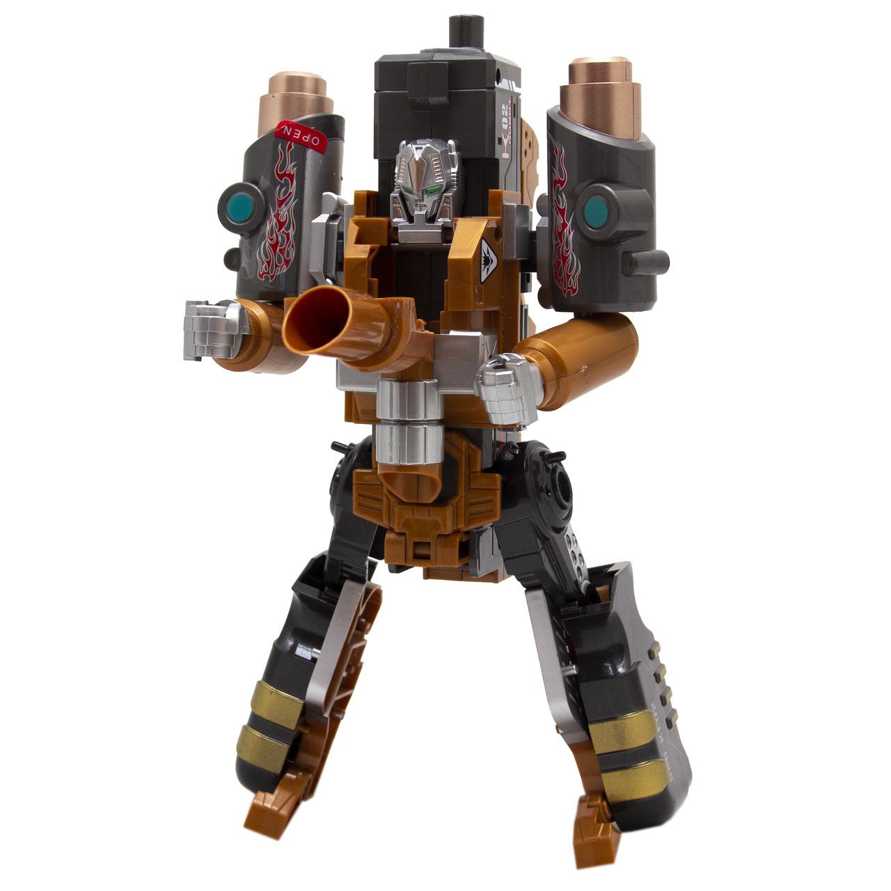 Игровой набор RoboGun 2-в-1: пистолет-трансформер STRIKER + 6 мягких пуль (K02)