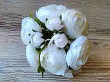 Букет белых лютиков 6 больших и 3 маленьких цена 185 грн., фото 6