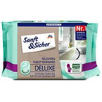 Sanft & Sicher Feuchtes Toilettenpapier Deluxe Sensitive влажная туалетная бумага Делюкс Нежность 50 шт.