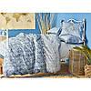 Постельное белье Karaca Home ранфорс - Lanika mavi 2020-1 голубой евро