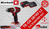 (Power X-Change) Аккумуляторный дрель шуруповерт Einhell TE-CD 18/40 Li (4513925) 3.0 kit