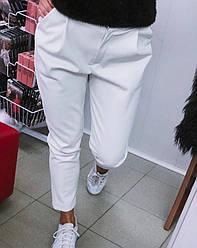 Кожаные брюки Новинка Весна 2020