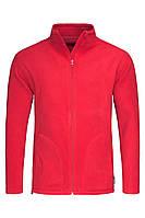 Флисовая кофта мужская красная на молнии Stedman - SREСТ5030