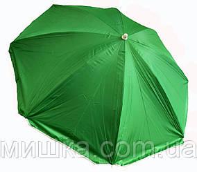 """Пляжный зонт 1,6 м с наклоном, система """"Ромашка"""", чехол, салатовый"""