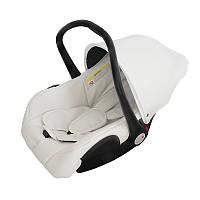 Детское автомобильное кресло - переноска - для детей от 0 - до 1 года. (белого цвета)