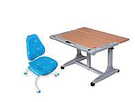 Комплект мебели для школьника парта+стул КД-338 BRISTOL+ КУ639 HAPPY CHAIR Blue Piramida, фото 1