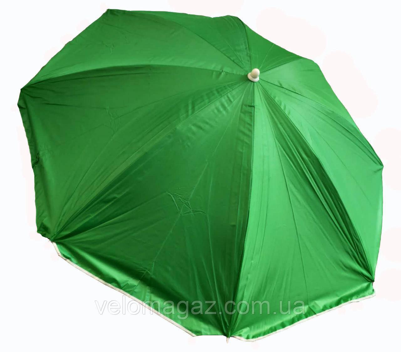 """Пляжний зонт 1,6 м з нахилом, система """"Ромашка"""", чохол, салатовий"""