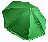 """Пляжний зонт 1,6 м з нахилом, система """"Ромашка"""", чохол, салатовий, фото 1"""