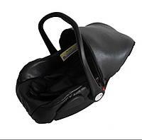 Детское автомобильное кресло - переноска - для детей от 0 - 1 года. (черного цвета )