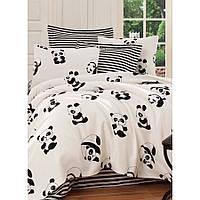 Покрывало пике Eponj Home B W - Panda siyah-beyaz вафельное 200*235