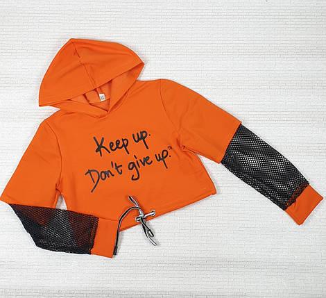 Топ на девочку 128,134,140,146 оранжевый, фото 2