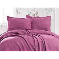 Покрывало с наволочками Eponj Home пике - Venus mor фиолетовый 230*240