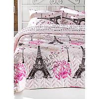 Покрывало стеганное с наволочкой Eponj Home - Fromparis pembe розовое 160*220