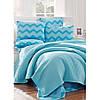 Постельное белье Eponj Home Paint Pike - ZigZag mavi голубой евро