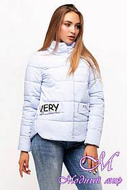 Жіноча весняна куртка великого розміру (р. 42-54) арт. Рікель 2 св. блакитний
