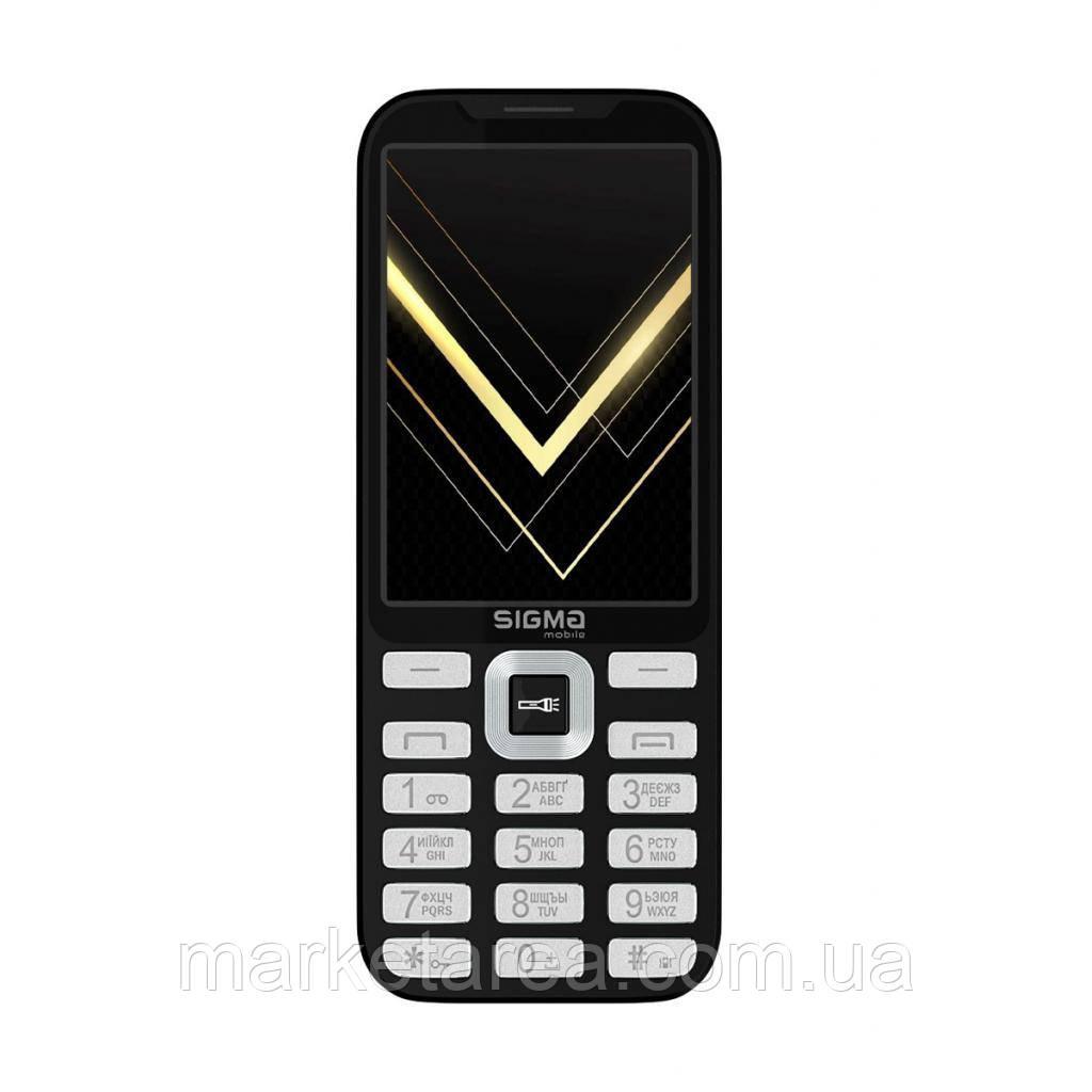 Кнопочный телефон с большим экраном на 2 сим карты Sigma X-Style 35 Screen Black