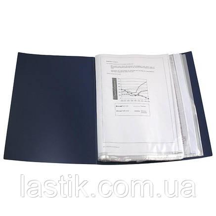Дисплей-книга 100 файлів у пластиковому боксі. (колір синій), фото 2