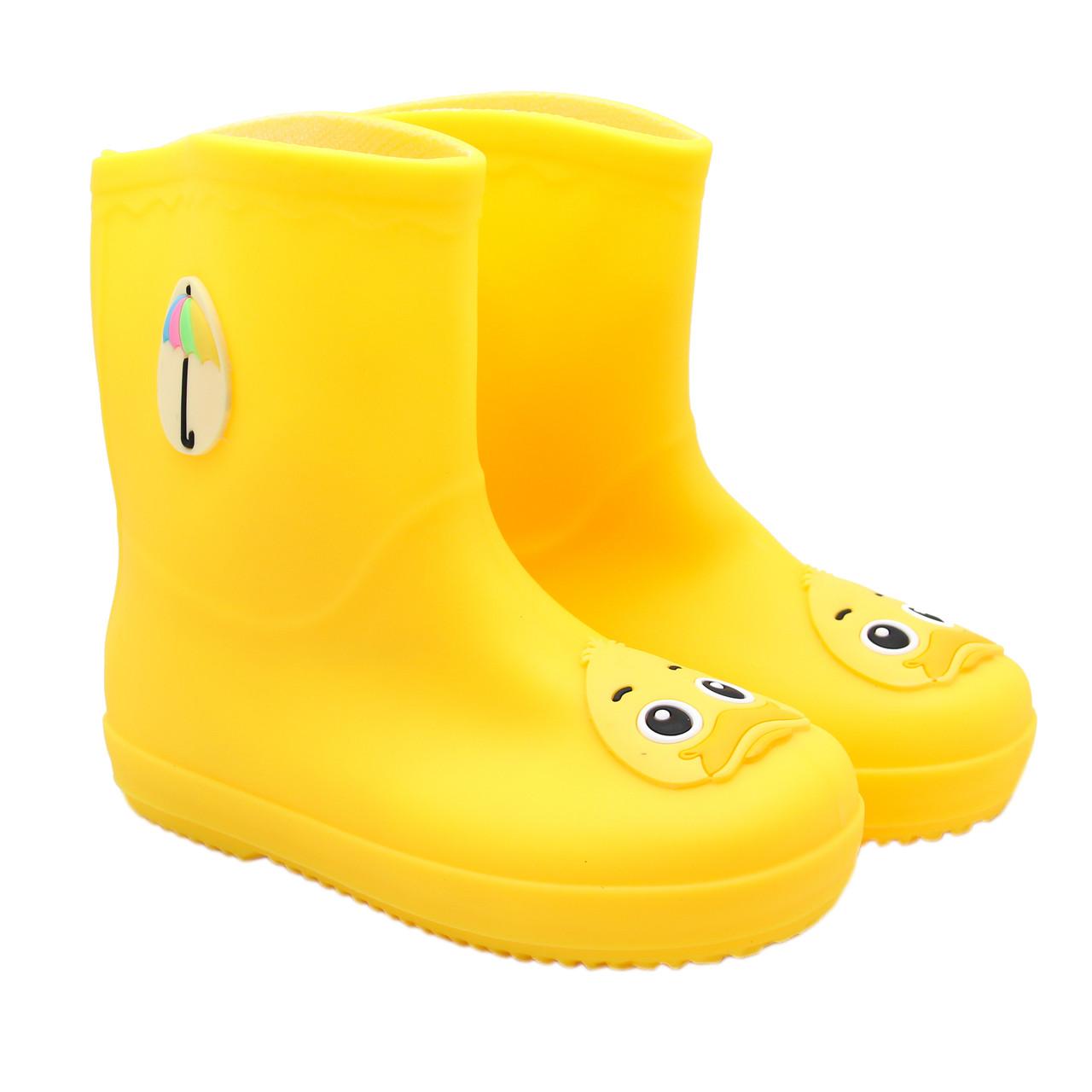 Детские резиновые сапоги, желтые, размер 24 (15 см) (513689-1)