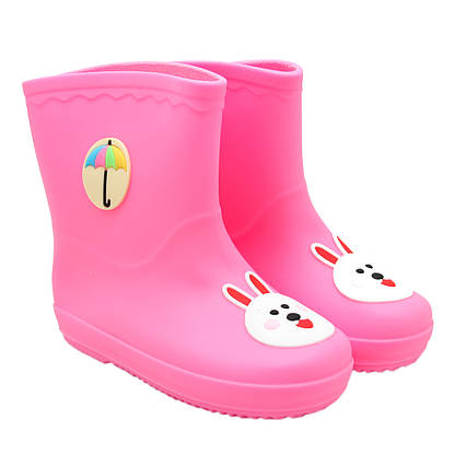 Детские резиновые сапоги, розовые, размер 24 (15 см) (513689-3)