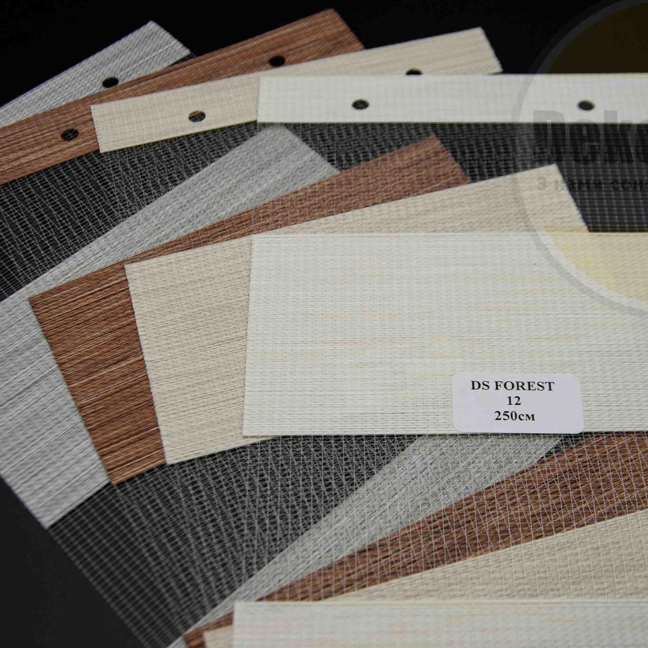 Рулонні штори День-Ніч DS Forest (4 варіанта кольору)