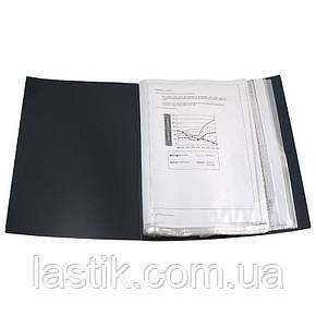 Дисплей-книга 100 файлів у пластиковому боксі. (колір чорний), фото 2