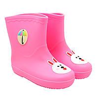 Резиновые сапоги детские, розовые, размер 31,5 (20 см) (513733-3)