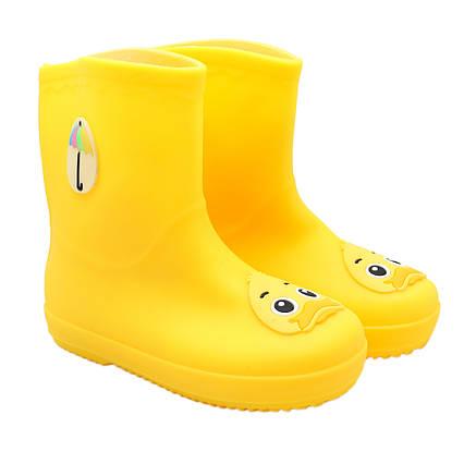 Резиновые сапоги детские, желтые, размер 28,5 (18 см) (513719-1)