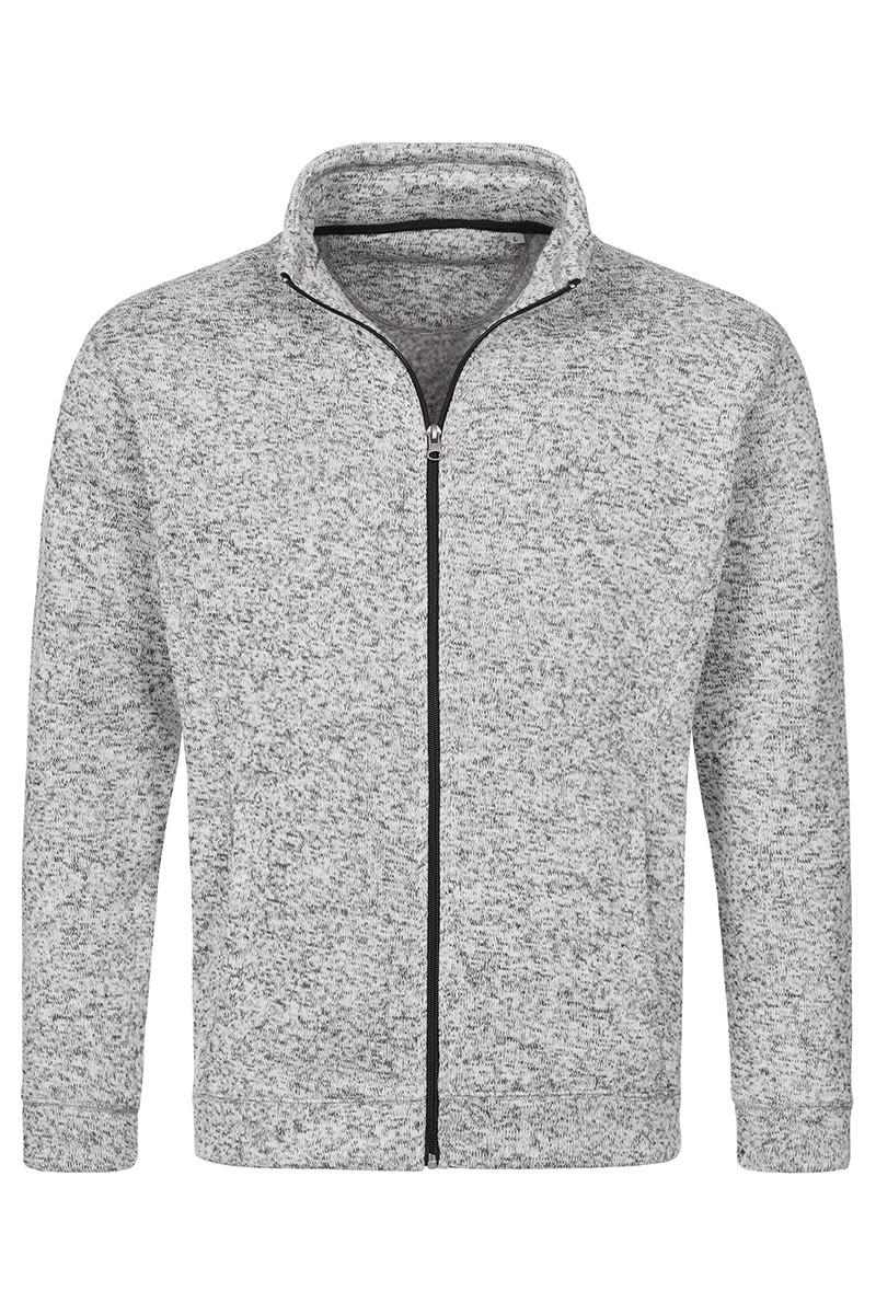 Мужская кофта флисовая светло-серый меланж Stedman - LGMCT5850