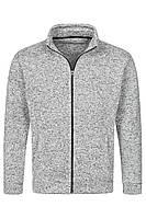 Мужская кофта флисовая светло-серый меланж Stedman - LGMCT5850, фото 1