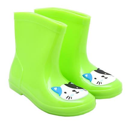 Резиновые сапоги детские, зеленые, размер 28,5 (18 см) (513771-2)