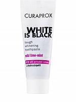 Зубная паста Curaprox White is Black mini (белая упаковка), 8 мл