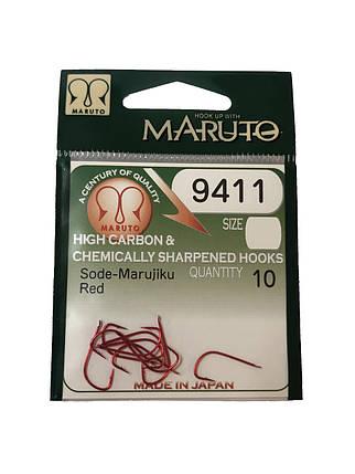 Крючок Maruto 9411 10 Red 10шт, фото 2