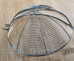 Ковш сито из нержавеющей стали, диаметр 17,5 см, фото 3