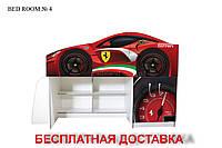 """Кровать - чердак  """"Бед-рум  №4""""  Viorina-Deko. мини """"Ferrari red"""""""