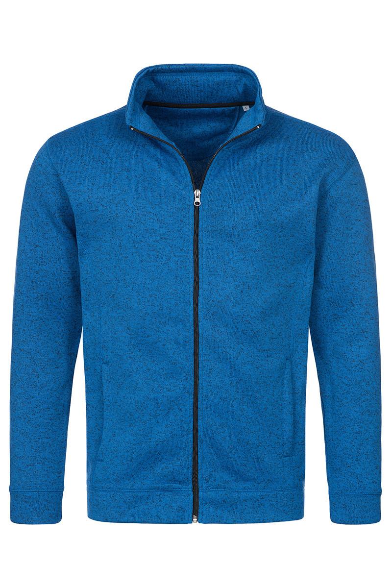 Мужская кофта флисовая синий меланж Stedman - BUMCT5850