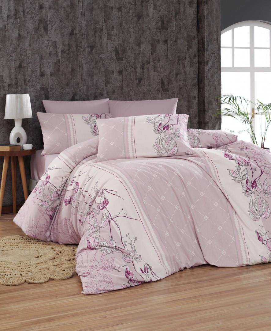 Комплект постельного белья First Choice Ранфорс 200x220 Arnica pudra
