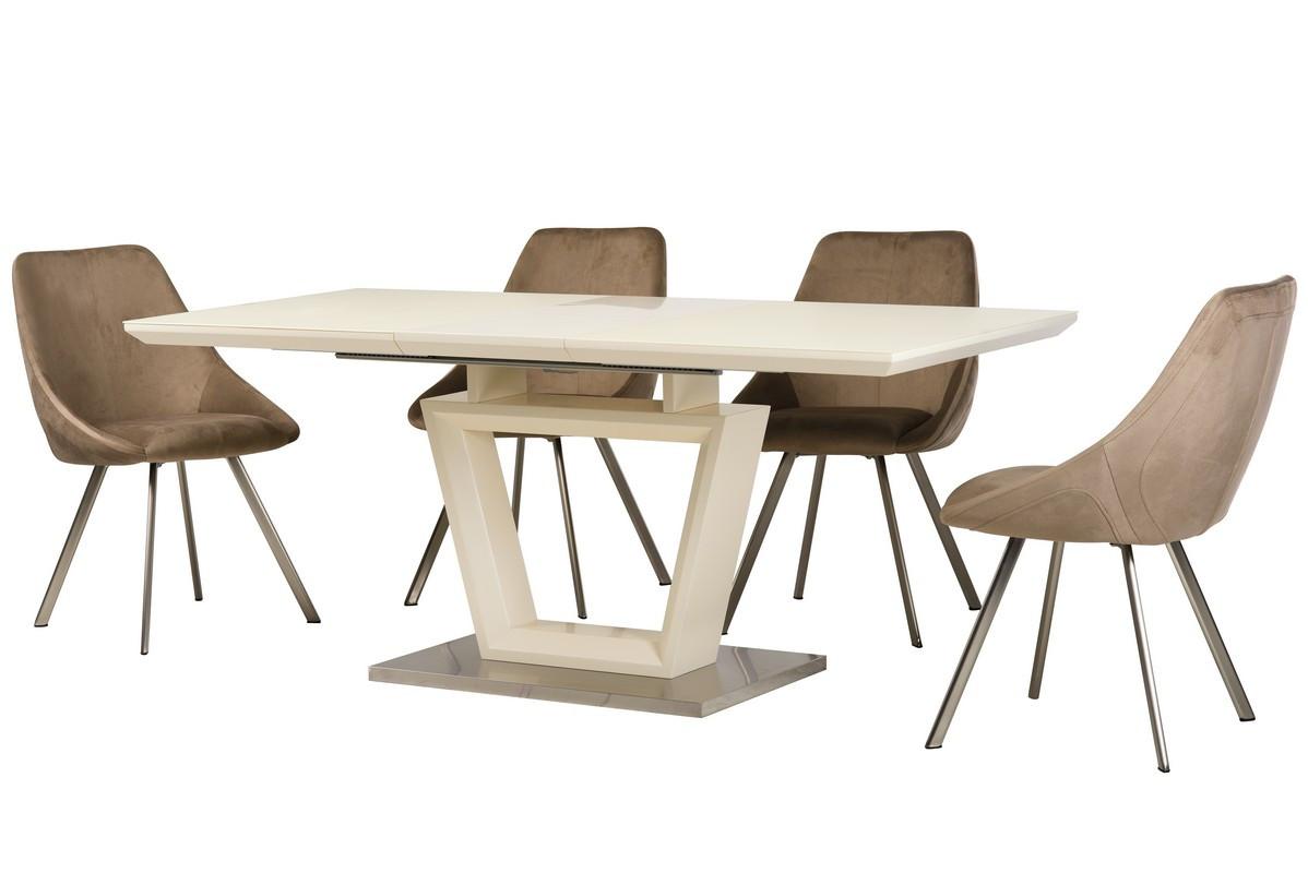 Раздвижной стол ТММ-51 матовый молочный 140/180 от Vetro Mebel