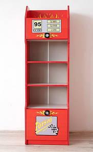 Детский Шкаф книжный Форсаж красный
