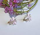 Серьги в серебре с эмалью Стрекоза, фото 3