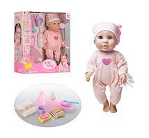 Пупс Baby Toby в полосатом боди и шапочке с аксессуарами