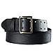 Ремень мужской кожаный армейский - партупея  цвет  черный   пряжка  - латунь, фото 2