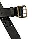 Ремень мужской кожаный армейский - партупея  цвет  черный   пряжка  - латунь, фото 3