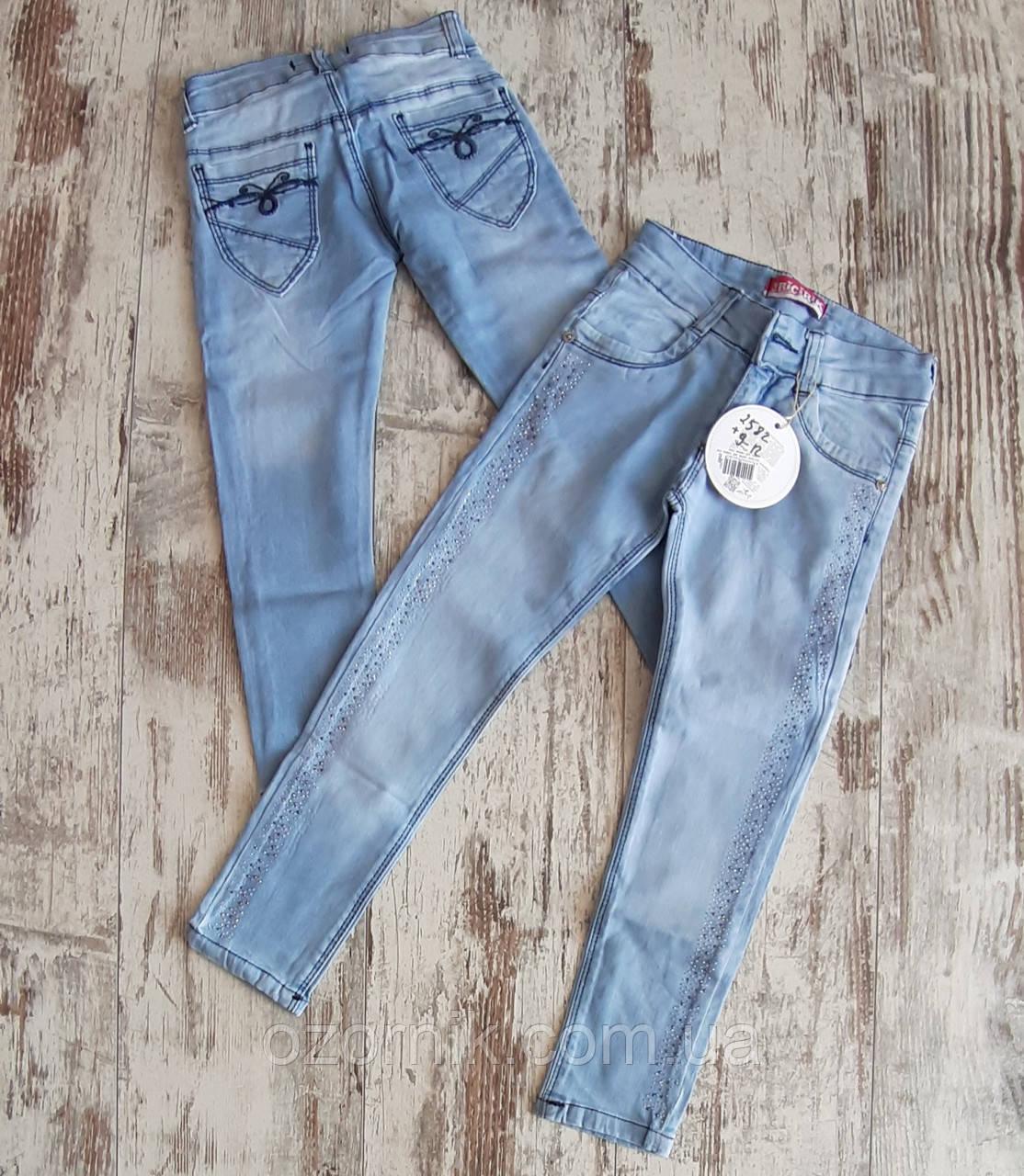 дитячі джинси зі стразами для дівчаток