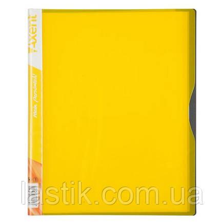 Дисплей-книга, 20 файлів, А4. (колір жовтий), фото 2