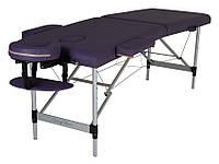 Складной массажный стол, легкий, ширина 60 см модель MOL,  Массажная кушетка 2 секции, на алюминиевых ножках