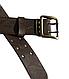Ремень мужской  кожаный -партупея  армейский   цвет  коричневый   пряжка - латунь Украина, фото 4